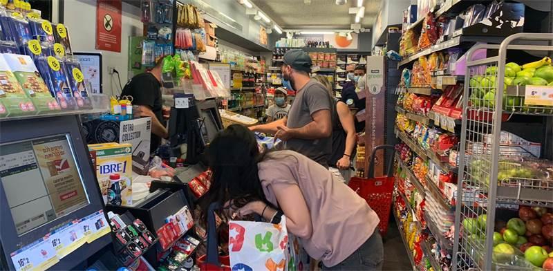 """קניות בשופרסל בת""""א לקראת ראש השנה ובצל הסגר הצפוי / צילום: שני מוזס, גלובס"""