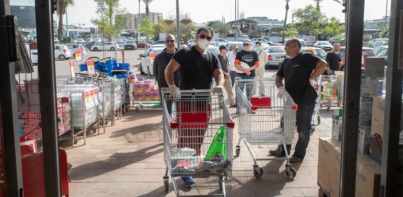 קניות בצל הקורונה בסניף יוחננוף בתל-אביב / צילום: כדיה לוי, גלובס