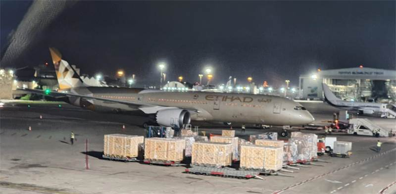 Etihad Airways plane in Israel  / Photo: IAA Moni Shapir , PR