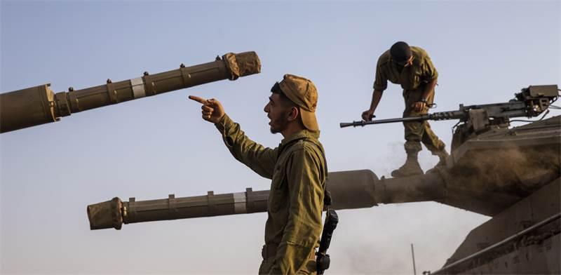 חיילים על גבול לבנון / צילום: Ariel Schalit, AP
