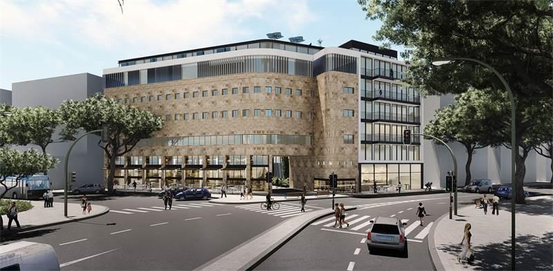 המלון המתוכנן ברחוב פינסקר 2 בתל אביב / הדמיה: בר אוריין אדריכלים