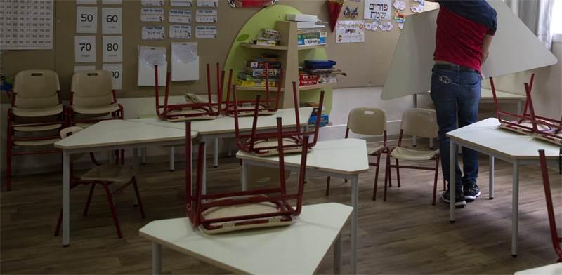 כיתה ריקה בבית ספר יסודי בתל אביב / צילום: Sebastian Scheiner, AP