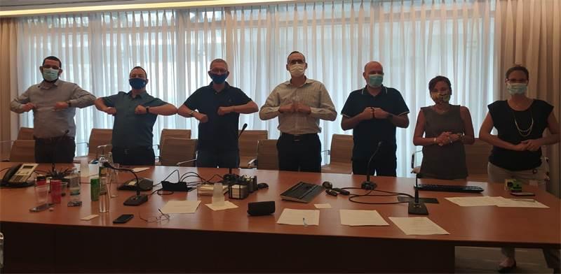 חתימת ההסכם בבורסה / צילום: דוברות ההסתדרות