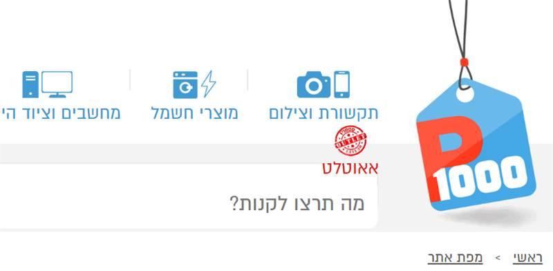 אתר p1000 / צילום: צילום מסך