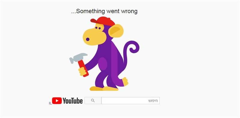 הודעת השגיאה ביוטיוב / צילום: צילום מסך
