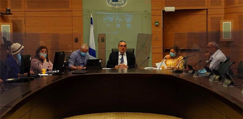הדיון בוועדת החוקה לגבי צ'קים חוזרים בתקופת הקורונה / צילום: עדינה ולמן, דוברות הכנסת