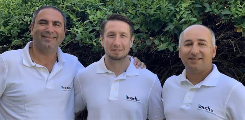 """מימין: איציק אסרף, דימיטרי שבצ׳נקו וזאק רובינשטיין, מייסדי 1touch / צילום: 1touch, יח""""צ"""
