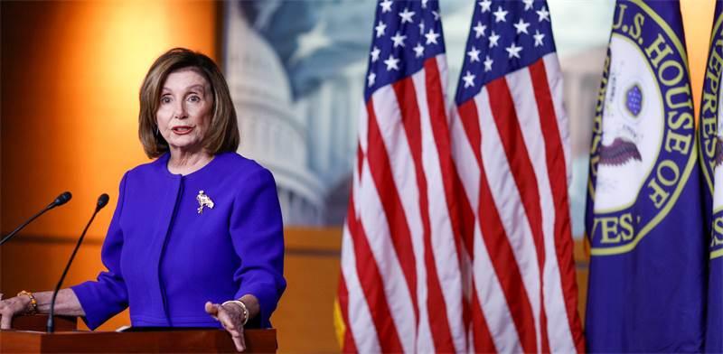 """ננסי פלוסי, יו""""רית בית הנבחרים / צילום: Tom Brenner, רויטרס"""