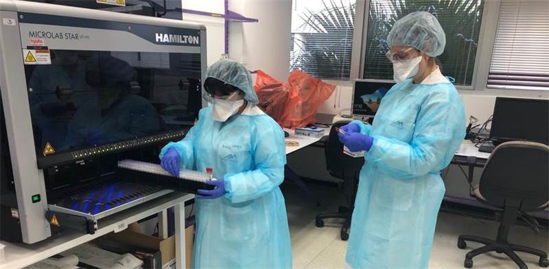 Laboratory testing for coronavirus  / Photo: Ministry of Health, ira prohorov