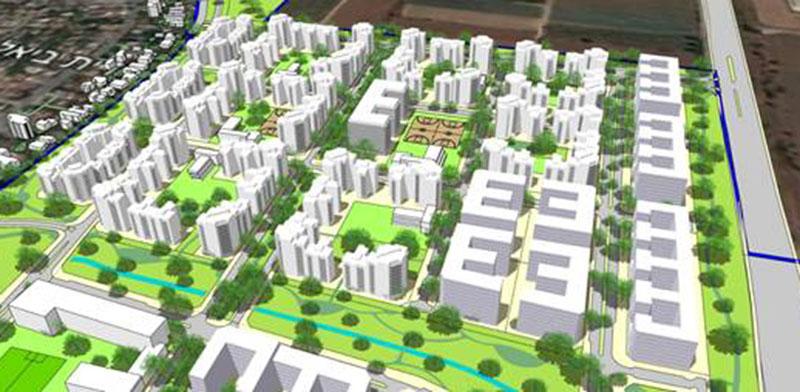רובע מגורים חדש בצפון מזרח יהוד / הדמיה: פרחי צפריר אדריכלים