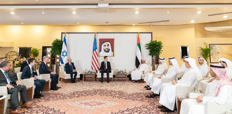 Israel, UAE and US delegates meet in UAE / Photo: Reuters