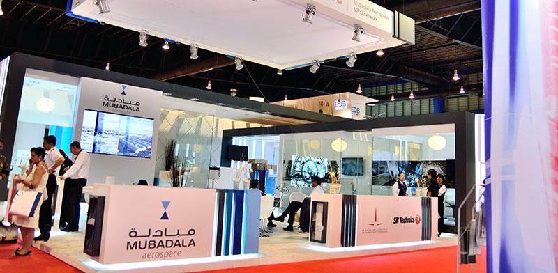 ביתן של Mubadala בתערוכת חדשנות בסינגפור. Mubadala היא אחת מקרנות ההשקעה הממשלתיות הענקיות של איחוד האמירויות / צילום: אתר החברה