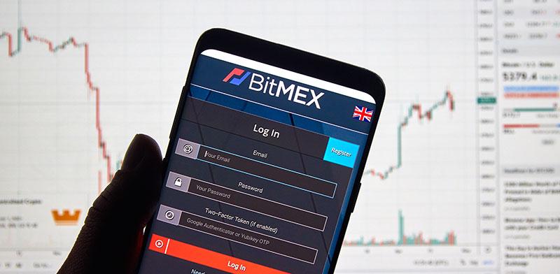 אפליקציה של בורסת הקריפטו BitMEX  / צילום: shutterstock, שאטרסטוק