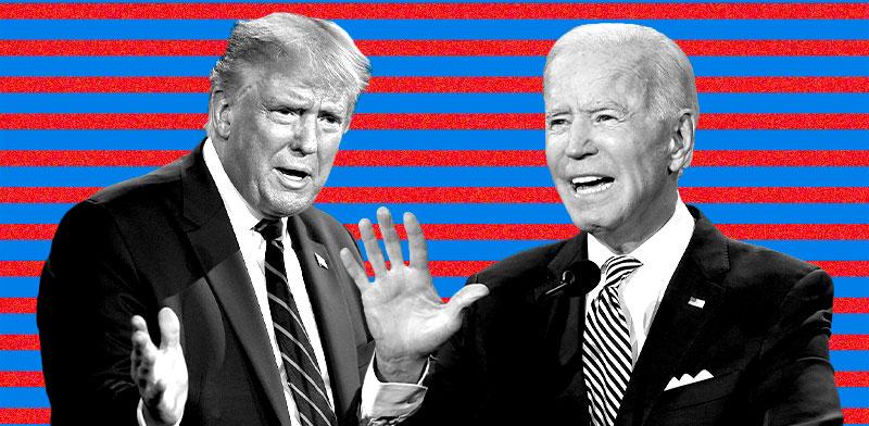 ג'ו ביידן ודונלד טראמפ / צילום: Patrick Semansky, Associated Press