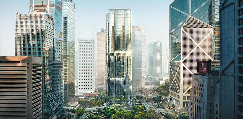 מגדל  2 Murray Road, הונג קונג / הדמיה: Zaha Hadid Architects