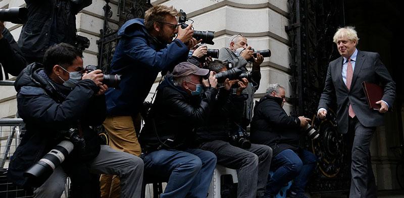 ראש הממשלה בוריס ג'ונסון / צילום: Alastair Grant, Associated Press