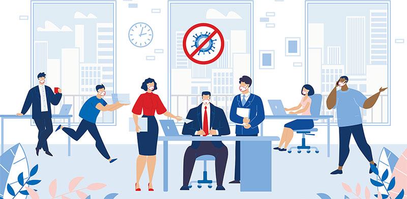 לחזור לעבוד במשרד בימי המגפה / איור: shutterstock, שאטרסטוק