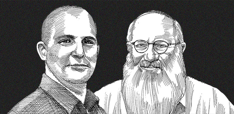 Zahi Nahmias and Eduardo Elsztain / Illustration: Gil Gibli, Globes