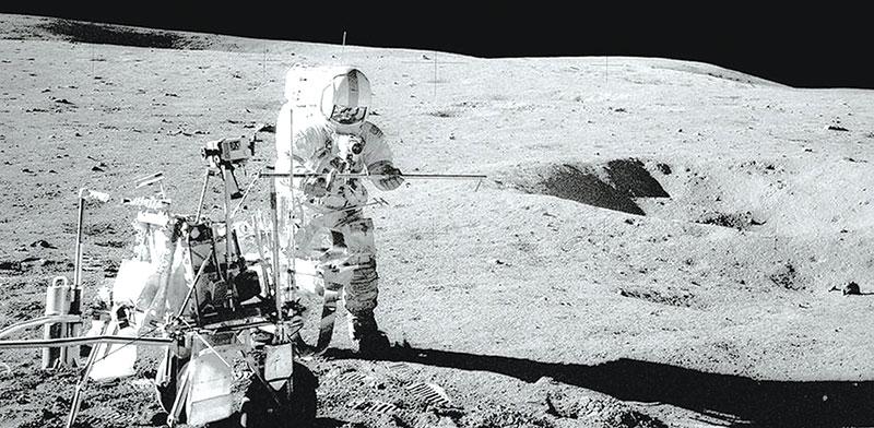 משימת אפולו 14. הפעם האחרונה שבני אדם נחתו על הירח הייתה ב־1972 / צילום: NASA, רויטרס