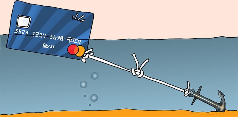 מסגרת כרטיסי האשראי / איור: גיל ג'יבלי, גלובס