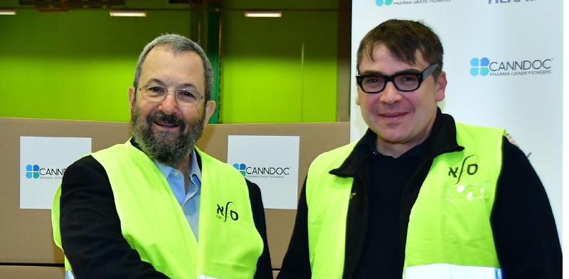 """אהוד ברק, יו""""ר קנדוק, ומייקל אורבך, מייסד שותף ודירקטור בטילריי / צילום: איליאן מרשק"""