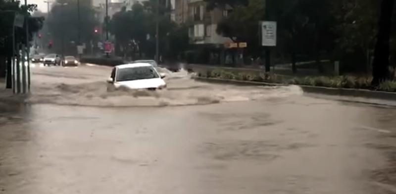 Flooding in Tel Aviv  / Photo: From Youtube