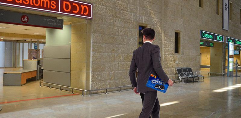 """הברחות כספים בנתב""""ג / צילומים: תמר מצפי, shutterstock; עיבוד: טלי בוגדנובסקי"""