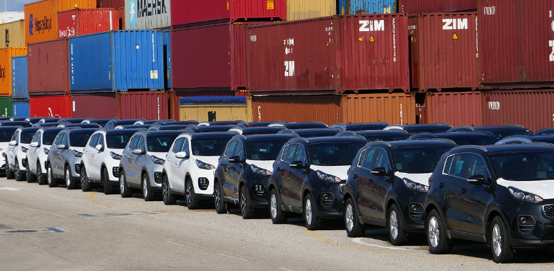 מכוניות חדשות בנמל חיפה / צילום: shutterstock
