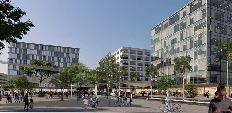 Beersheva's planned innovation district  / Imagin: HQ Architects