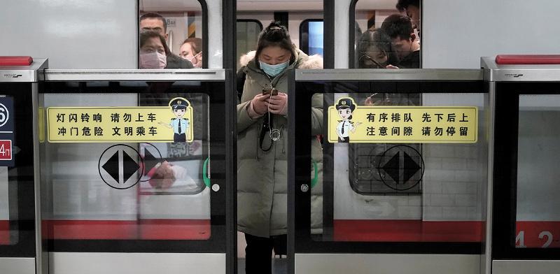 הרכבת התחתית בבייג'ינג / צילום: Aly Song, רויטרס