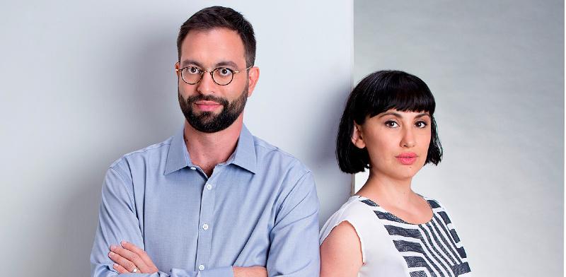 יגאל רייחלגאוז וקרינה אודינייב, מייסדי קורטיקה / צילום: ענבל מרמרי