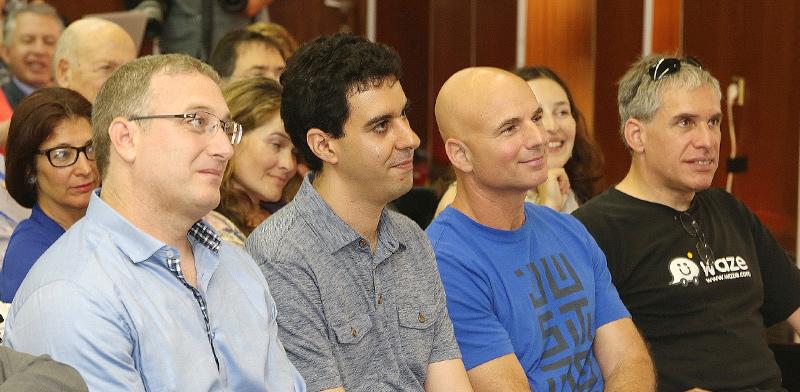 מייסדי ווייז, משמאל לימין: אהוד שבתאי, נועם ברדין ואורי לוין/ צילום: קובי קנטור