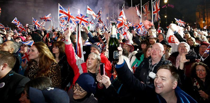 חגיגות הברקזיט בלונדון  / צילום: רויטרס