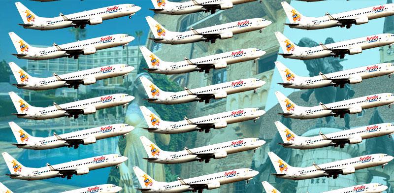 """סאן דור משיקה טיסות לפאפוס, לקלוז' ולוורונה / צילום: shutterstock, יח""""צ; עיבוד: טלי בוגדנובסקי"""