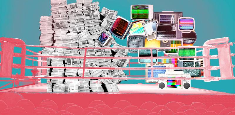 החטאים של התקשורת - המודל העסקי / אילוסטרציה: טלי בוגדנובסקי, גלובס