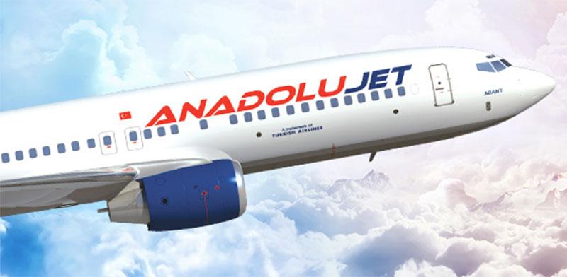 מטוס של ANADOLU JET, מותג הלואו קוסט של טורקיש איירליינס / צילום: אתר החברה