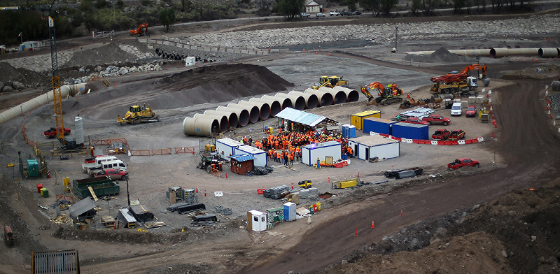 פרויקט הקמת תחנת כוח הידרו־אלקטרית על־ידי AES. הגדול ביותר בצ'ילה / צילום: IVAN ALVARADO, רויטרס