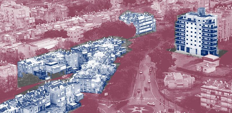 """דירות חדשות בבניינים שעברו תמ""""א 38 לעומת דירות בפרויקט חדש / צילום: shutterstock, עיבוד תמונה: טלי בוגדנובסקי"""