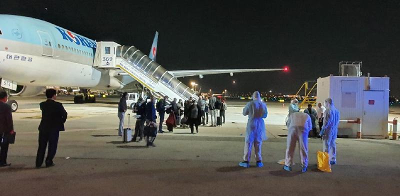 המטוס הדרום-קוריאני שנחת בבן-גוריון וחזר על עקבותיו / צילום: דוברות רשות שדות התעופה