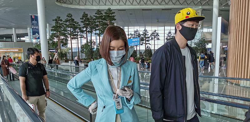 שדה התעופה בסיאול, לאחר התפשטות וירוס קורונה בקוריאה הדרומית  / צילום: Geyres Christophe/ABACA, רויטרס