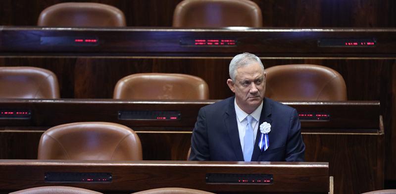 Benny Gantz  / Photo: Knesset spokesperson, Gideon Sharon , דוברות הכנסת
