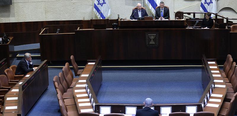 הצהרת אמונים במליאת הכנסת הריקה בצל הקורונה / צילום: גדעון שרון, דוברות הכנסת