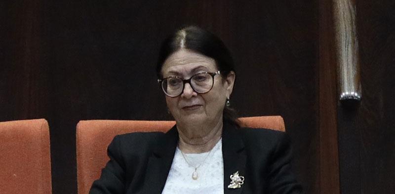 נשיאת בית המשפט העליון, השופטת אסתר חיות / צילום: גדעון שרון, דוברות הכנסת