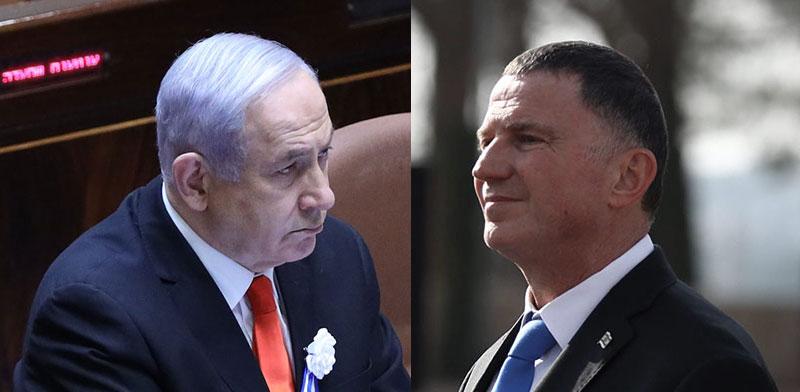 Prime Minister Benjamin Netanyahu, Minister of Health Yuli Edelstein / Photo: Knesset spokesperson, Gideon Sharon , דוברות הכנסת