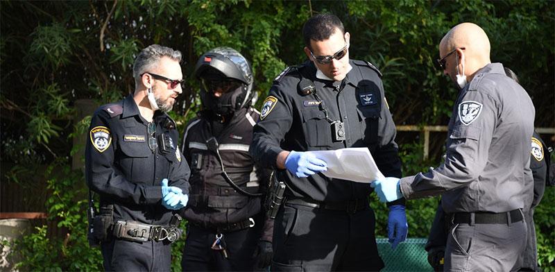 משטרת ישראל בפעילות לאכיפת צו בריאות / צילום: דוברות המשטרה