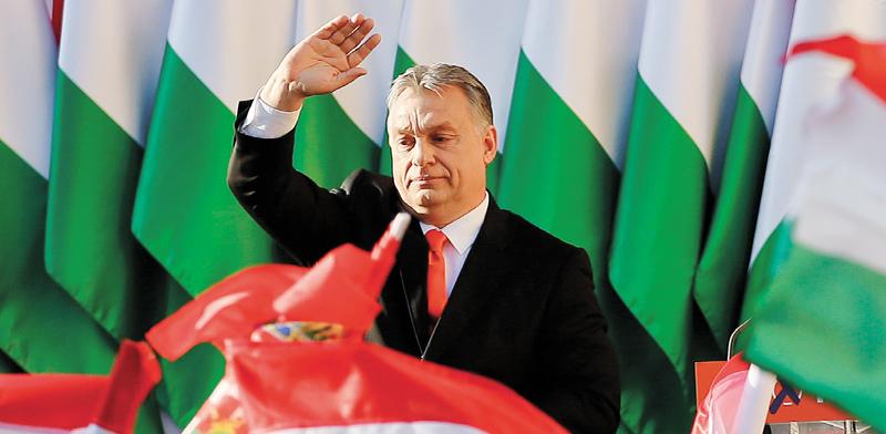 ראש ממשלת הונגריה ויקטור אורבן במערכת הבחירות האחרונה ב־2018 / צילום: Associated Press