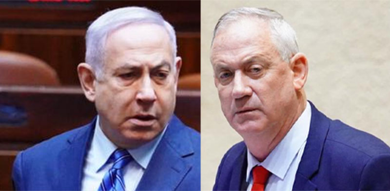 Benjamin Netanyahu and Benny Gantz / Photo: Knesset Spokesperson Adina Walman , דוברות הכנסת