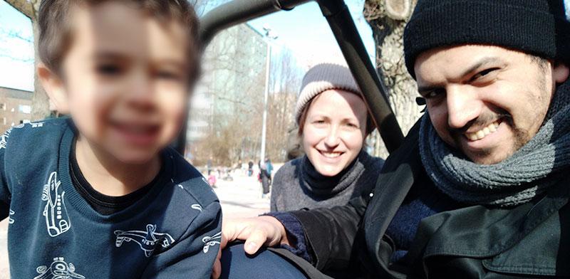 עוזי, ליאורה ונעם מבלים בפארק בגטבורג בשבוע שעבר / צילום: ליאורה לויאן