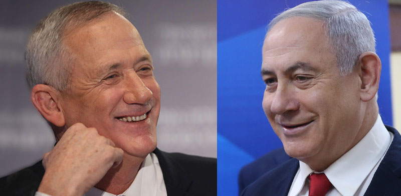 Benny Gantz and Benjamin Netanyahu / Photo: Alex Kolomoisky, Yedioth Ahronoth