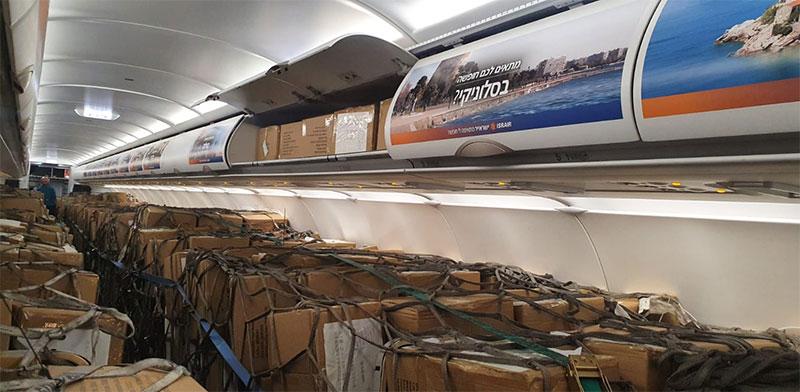 """מטוס נוסעים שהוסב למטוס מטען / צילום: ישראייר, יח""""צ"""